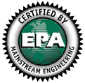 Certified by EPA Mainstream Engineering